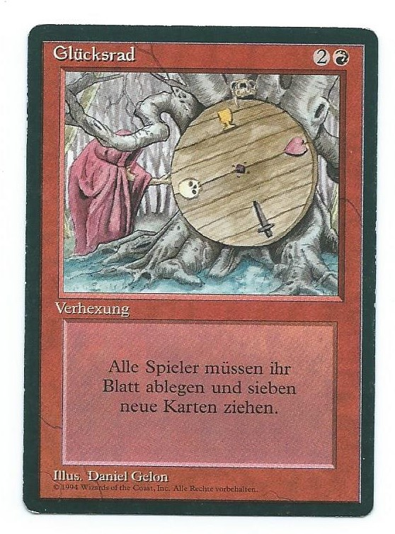 Magic MTG Wheel of Fortune FBB German front