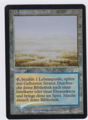 Magic MTG FOIL Flooded Strand FBB German front