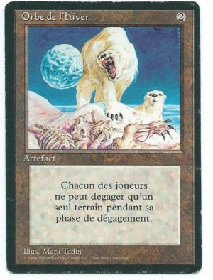 Magic MTG FBB Winter Orb French front