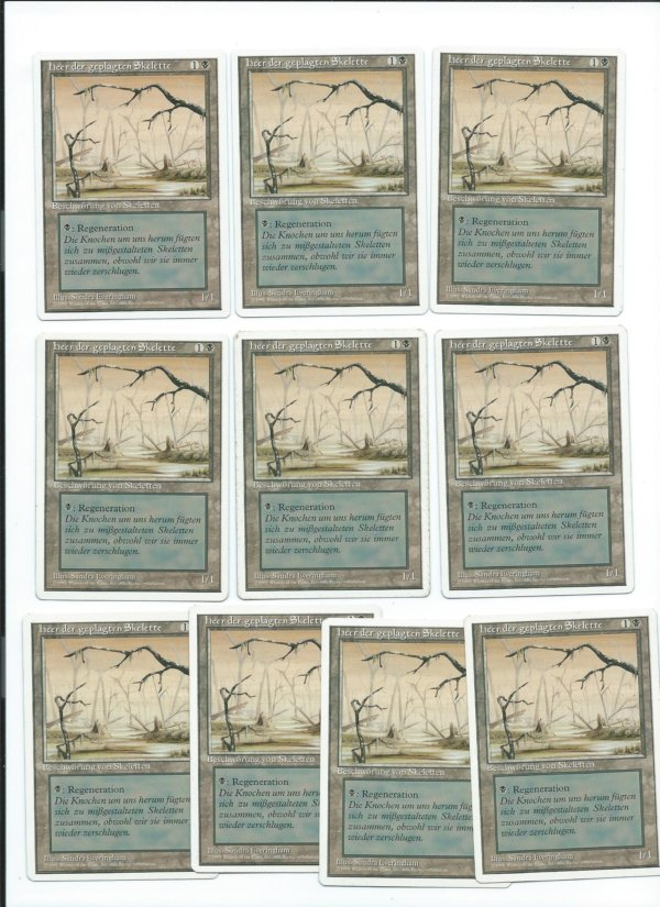 Magic MTG mispring swamp drudge skeleton