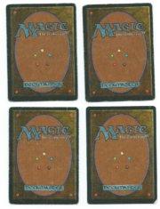 Magic MTG 4x FBB Lightning Bolt German HP back