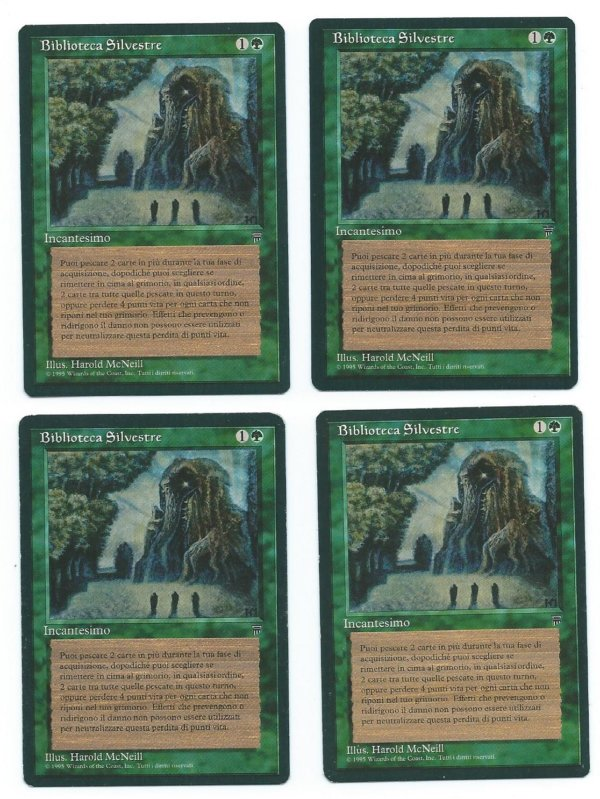 Magic MTG 4x FBB Sylvan Library italian legends front 2