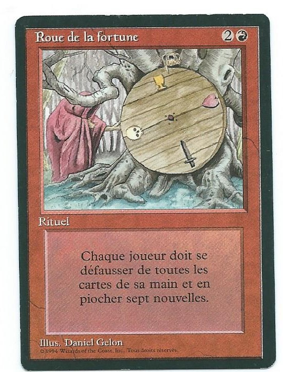 Magic MTG FBB Ball Wheel of Fortune French first edition front