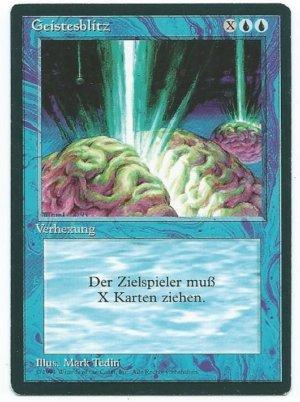 Magic MTG FBB Braingeyser German front