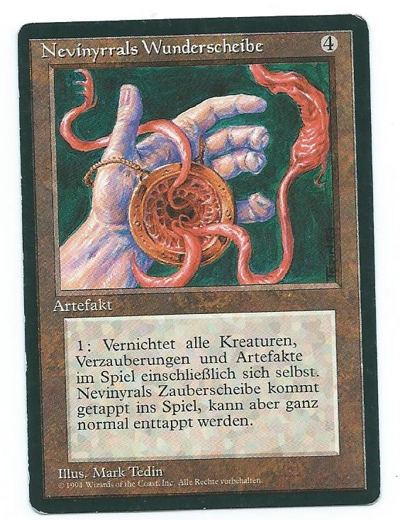 Magic MTG FBB Nevinyrral's Disk German first edition front