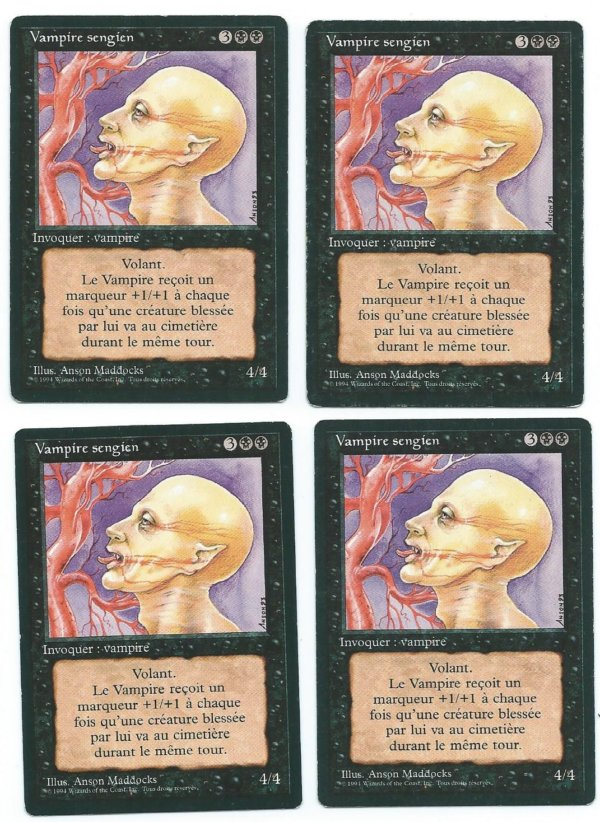 Magic MTG 4x FBB Sengir Vampire French front