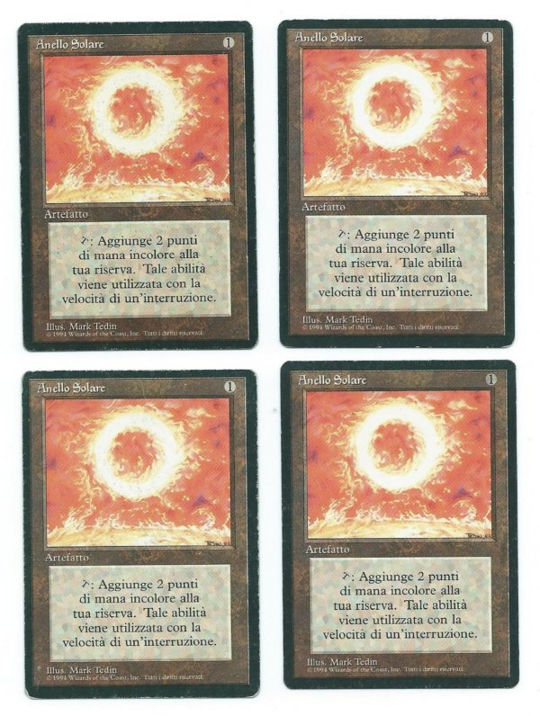 Magic MTG 4x FBB Sol Ring Italian front