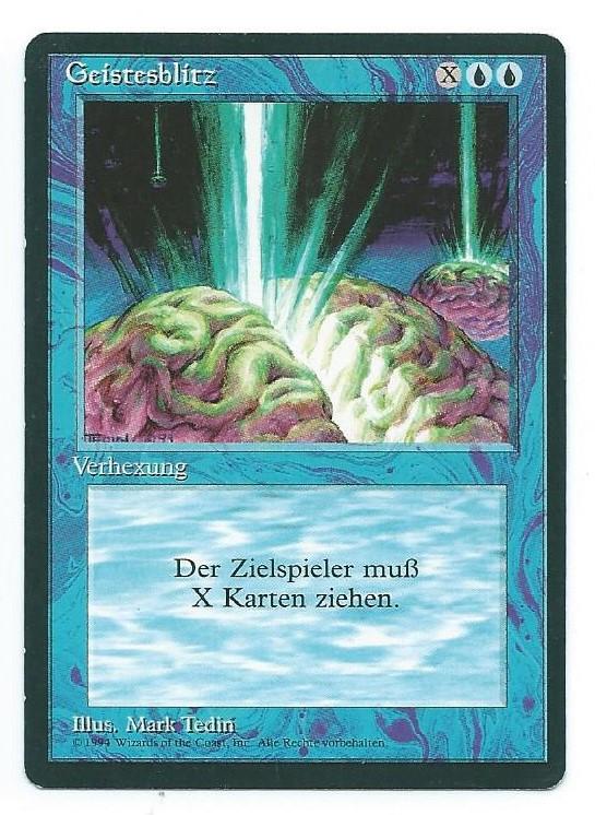Magic MTG FBB Braingeyser German front #2