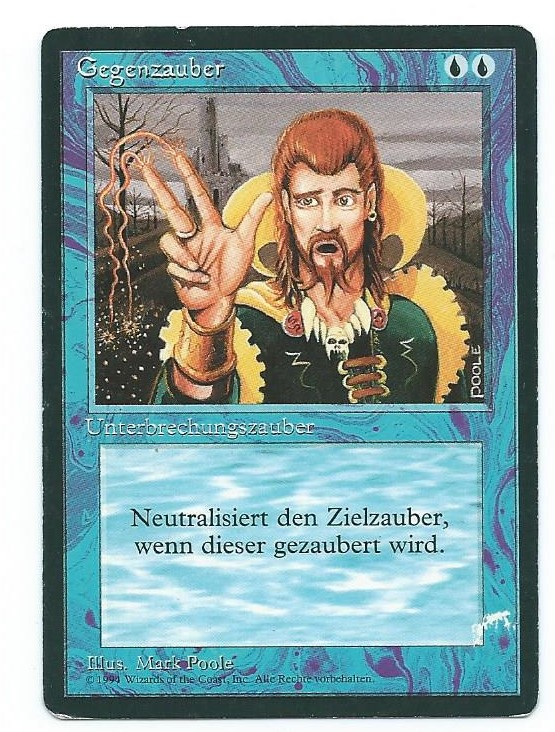 Magic MTG PLAYED Counterspell FBB German Front