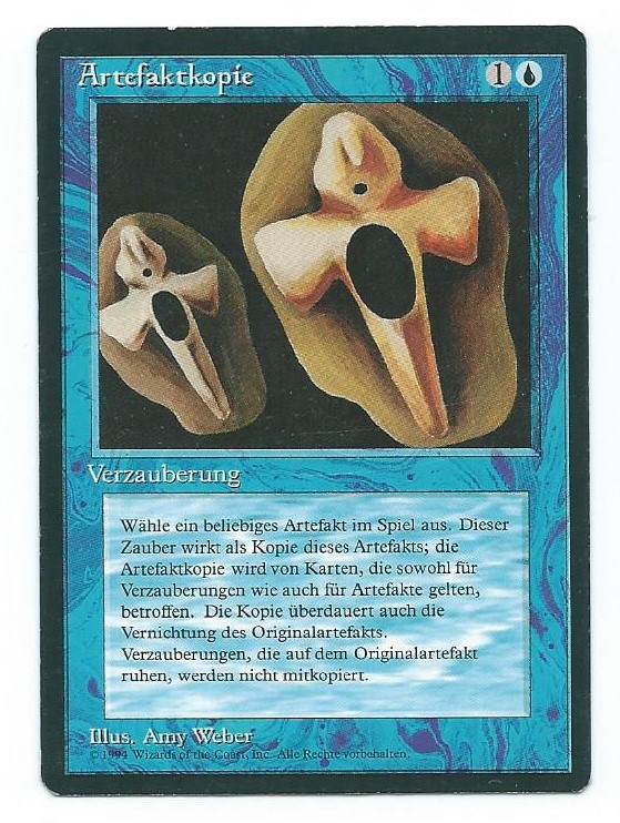 Magic MTG FBB Copy Artifact German front 2