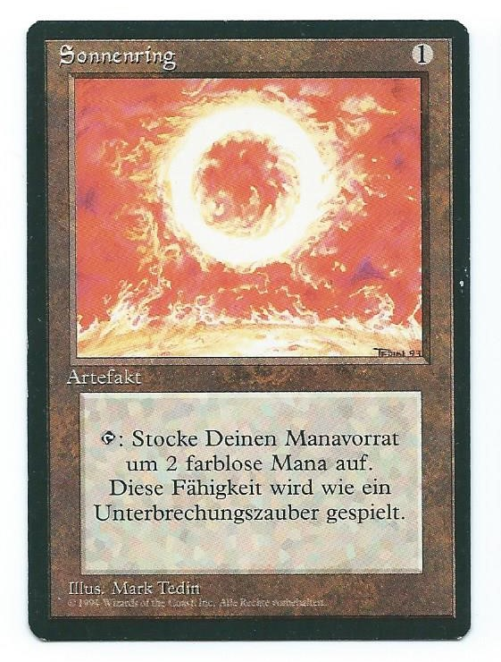 Magic MTG FBB Sol RIng German front 2