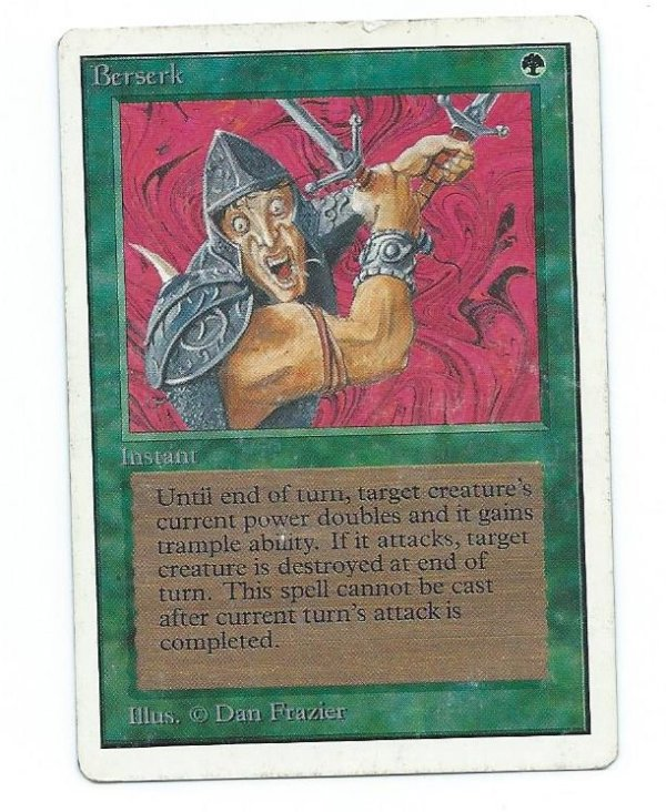 Magic MTG Unlimited Berserk Played front