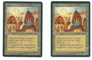 Magic MTG 1x City of Brass HP PLAYED FBB Italian Renaissance (2 available)