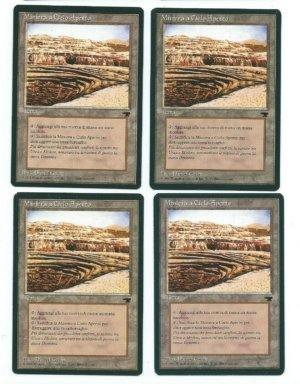 Magic MTG 1x Strip Mine FBB Italian Rinascimento Vintage www_MoxBeta_com