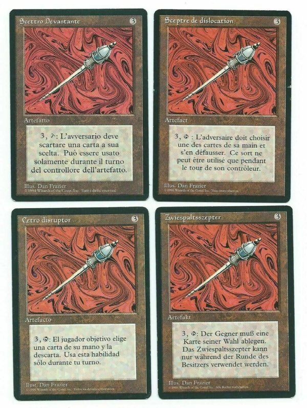 Magic MTG 4x FBB Disrupting Sceptre Playset foreign black border MoxBeta_com