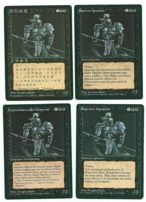 Magic MTG 4x Hypnotic Spectre FBB Foreign Playset German Italian Chinese Spanish