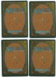 Magic MTG 4x Lightning Bolt FBB German Foreign 1994 Playset www_MoxBeta_com #2 back