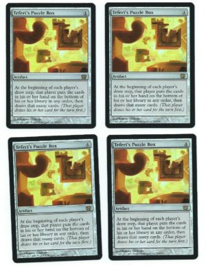 Magic MTG 4x Teferi's Puzzle Box FOIL 8th Eight Edition Playset www_MoxBeta_com