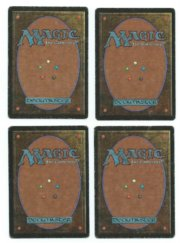 Magic MTG Beta 4x Ice Storm Playset Card Gathering www_MoxBeta_com back