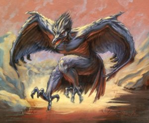 Magic MTG Pit Raptor Original Artwork