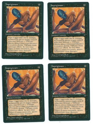 Magic MTG 4x FBB imprison imprigionare italian legends front