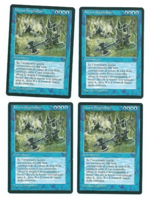Magic MTG 4x FBB invoke prejudice invocare il pregiudizio italian legends front