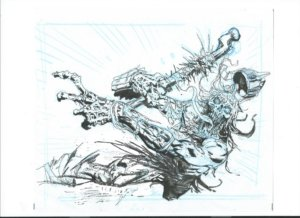 Unliving Psychopath Greg Staples preliminary artwork