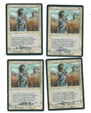 Magic MTG FBB Swords to Plowshares signed