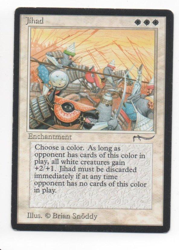 Magic MTG Arabian Nights Jihad banned card #2
